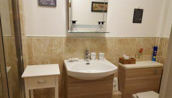 white guest house bathroom