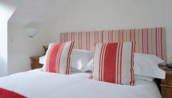 abbey rise red cushion