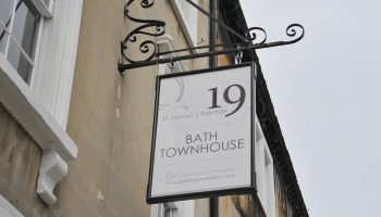 bath town house outside sign