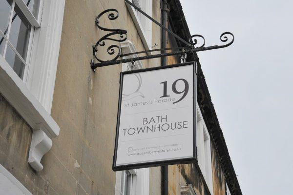 bath town house outside sign
