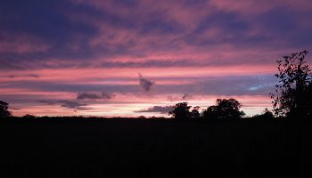 fosse farmhouse sunset