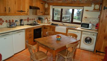 horseshoe cottage rustic kitchen