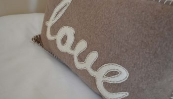 bay tree love cushion