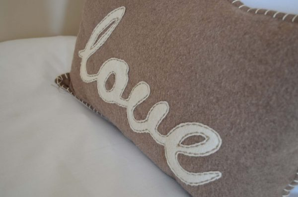 bay tree love cushion