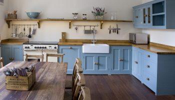 bath town house blue kitchen cupboards
