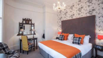 roseate bedroom tartan