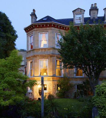 dorian house outside dusk