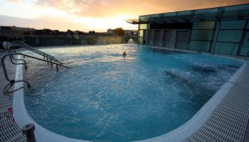thermae spa sunset