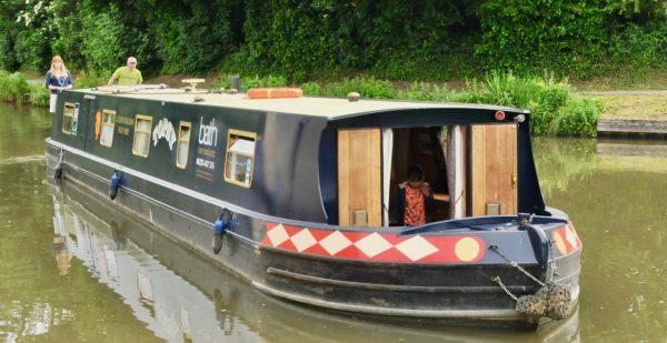bath narrowboat floating