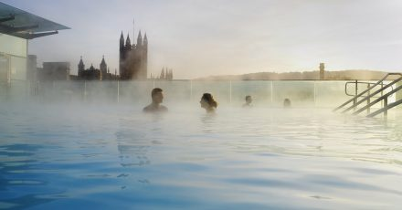 thermae spa steam evening