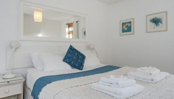 brooks white and blue bedroom