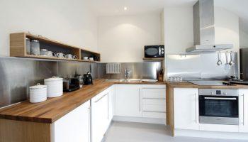 bath view white kitchen
