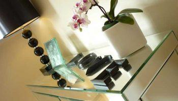bath west glass table