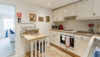 brooks view stairs kitchen