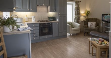 lime kiln cottage grey kitchen