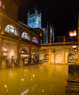 Roman Baths at night