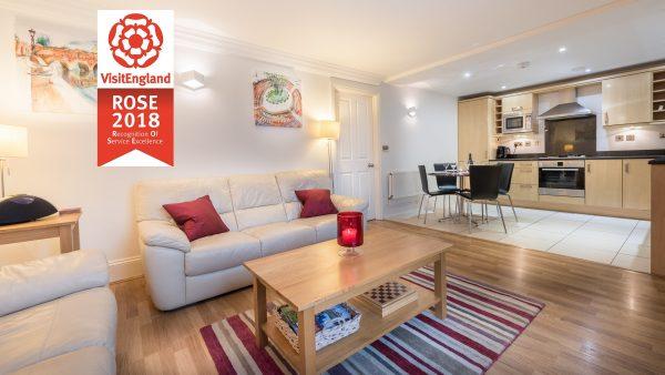 Bath Apartment Breaks living room