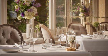 Table set for dinner at Bathen House